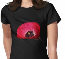 RED RANUNCULI TEE from mighty mite studio Womens Fitted T-Shirt