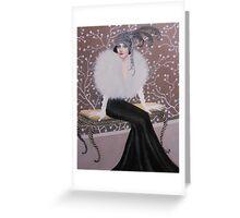 FASHIONABLE ART DECO LADY Greeting Card
