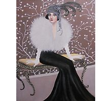 FASHIONABLE ART DECO LADY Photographic Print