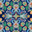 Boho Navy and Brights by micklyn