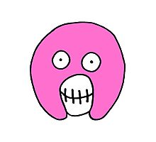 The Mighty Boosh – Solid Pink Mask Photographic Print