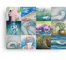 Painting Assemblage Canvas Print