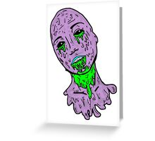 Grunge Zombie Girl Greeting Card