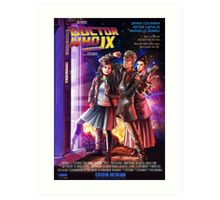 Doctor Who Back to the Future Art Print