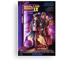 Doctor Who Back to the Future Canvas Print