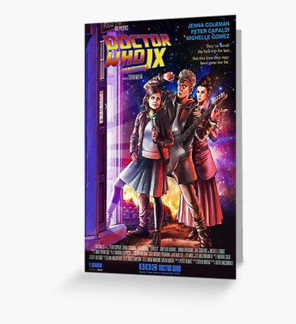 Doctor Who Back to the Future Greeting Card