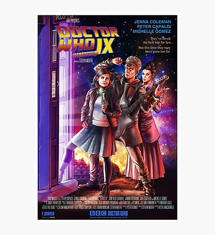 Doctor Who Back to the Future Photographic Print