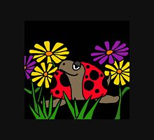 Cool Funky Turtle with Ladybug Shell and Colorful Daisies Unisex T-Shirt