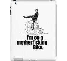 I'm on a  bike iPad Case/Skin