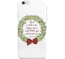 Glory to God in the Highest iPhone Case/Skin