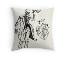"""Frightened Rabbit"" Throw Pillow"