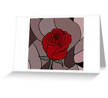 Awesome Artistic Red Rose Abstract Art Original Greeting Card