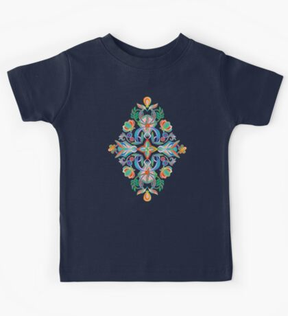 Boho Navy and Brights Kids Tee