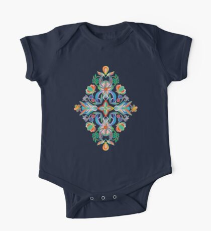 Boho Navy and Brights One Piece - Short Sleeve