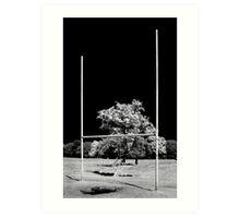 GAA Goalposts in the Phoenix Park, Dublin Art Print
