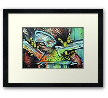Mixing thoughts Framed Print