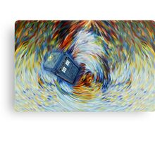 Blue Phone Booth jump into time Vortex art painting Metal Print