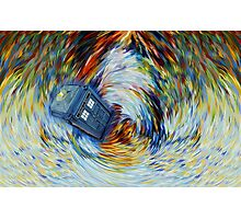 Blue Phone Booth jump into time Vortex art painting Photographic Print