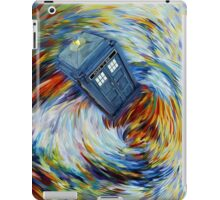 Blue Phone Booth jump into time Vortex art painting iPad Case/Skin