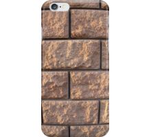 Fragment of the wall of the large concrete blocks iPhone Case/Skin