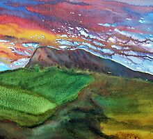 Slemish Abstract by Les Sharpe