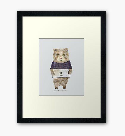 i like you Framed Print