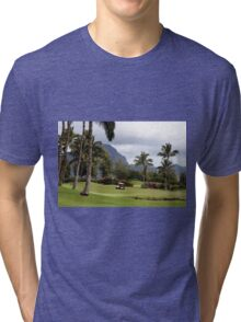 Poipu Bay Golf Course, Kauai, Hawaii Tri-blend T-Shirt