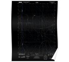 USGS Topo Map Oregon Horse Butte 20110825 TM Inverted Poster