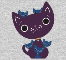 Mum and Kittens One Piece - Long Sleeve