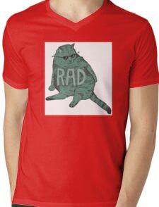 Rad Cat Mens V-Neck T-Shirt