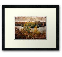Torn sheet of Fall Framed Print