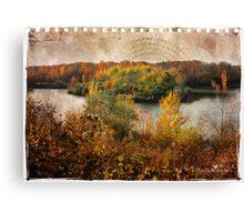 Torn sheet of Fall Canvas Print