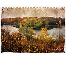 Torn sheet of Fall Photographic Print