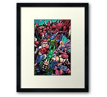 Salty Roos vs. Krampus Framed Print