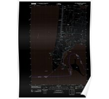 USGS Topo Map Washington Cape Disappointment 20110914 TM Inverted Poster