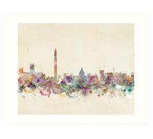 washington city skyline Art Print