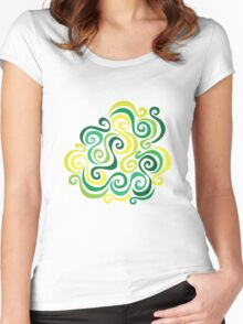 Swirly Emblem Women's Fitted Scoop T-Shirt