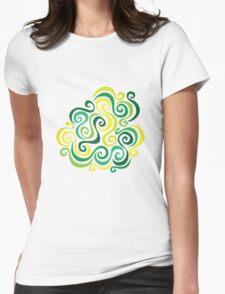 Swirly Emblem Womens Fitted T-Shirt