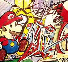 Super Graffiti Mario by Ryuri-Neko
