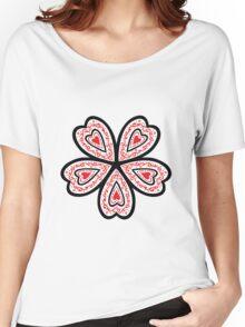 Heart Flower Women's Relaxed Fit T-Shirt