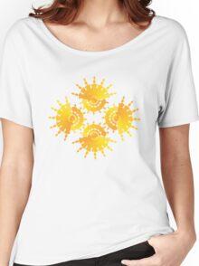 Sun Star Pattern Women's Relaxed Fit T-Shirt