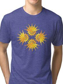 Sun Star Pattern Tri-blend T-Shirt