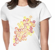 Firery Curlicules Womens Fitted T-Shirt