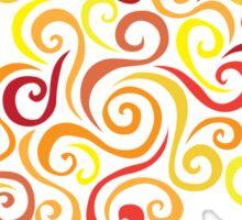 Firery Curlicules Sticker