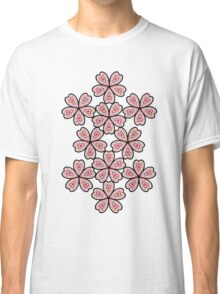 Flower Heart Pattern Classic T-Shirt