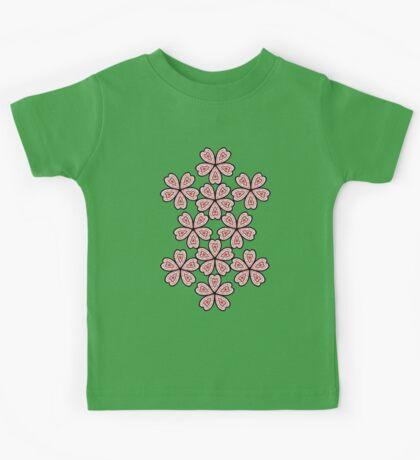 Flower Heart Pattern Kids Tee
