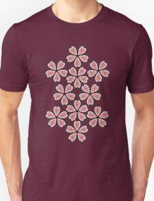 Flower Heart Pattern Unisex T-Shirt