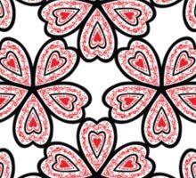 Flower Heart Pattern Sticker