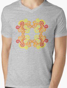 Firery Swirls Mens V-Neck T-Shirt