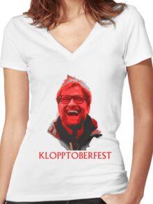 Klopptoberfest Women's Fitted V-Neck T-Shirt